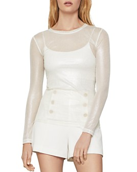 BCBGMAXAZRIA - Long Sleeve Mesh Top