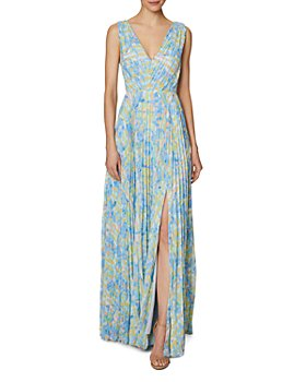 Laundry by Shelli Segal - Printed Pleated Gown