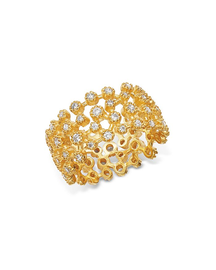 Bloomingdale's - Diamond Scatter Statement Ring in 14K Yellow Gold, 1.0 ct. t.w. - 100% Exclusive