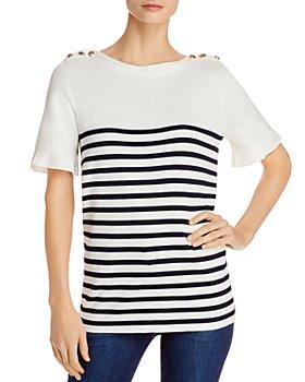 KARL LAGERFELD PARIS - Cotton Striped Sweater