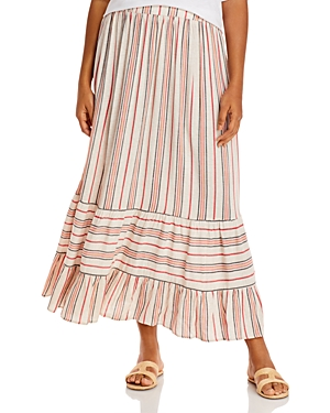Aqua Curve Tiered Striped Skirt - 100% Exclusive