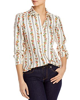 Tory Burch - Bridgette Printed Silk Blouse