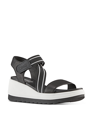 Women's Hibiscus Strappy Wedge Sandals