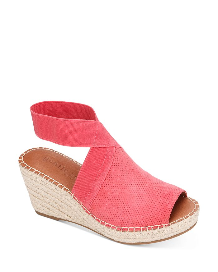 Gentle Souls by Kenneth Cole - Women's Charli Ankle Strap Espadrille Wedge Sandals