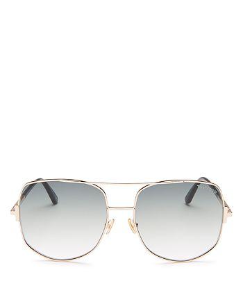 Tom Ford - Women's Lennox Brow Bar Geometric Sunglasses, 62mm