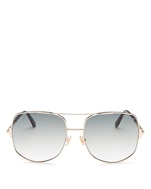 Tom Ford Women's Lennox Brow Bar Geometric Sunglasses, 62mm