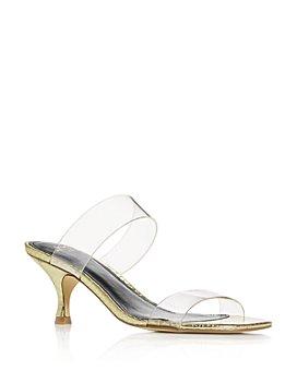 Marc Fisher LTD. - Women's Guadia 2 Snake-Embossed Mid-Heel Sandals