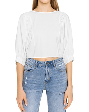 Endless Rose Solid Back-Tie Top-Women