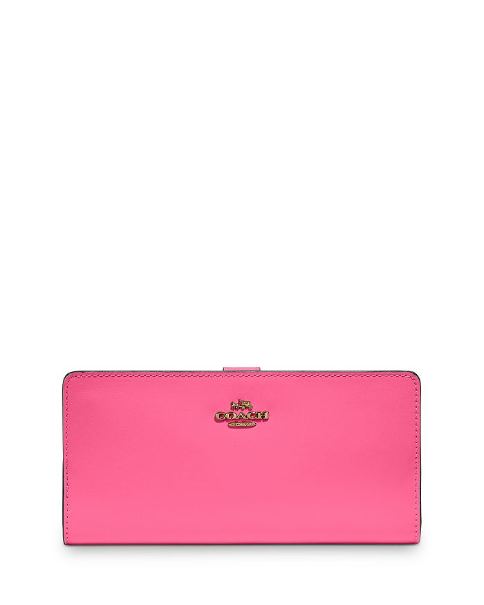 COACH - Skinny Continental Leather Wallet