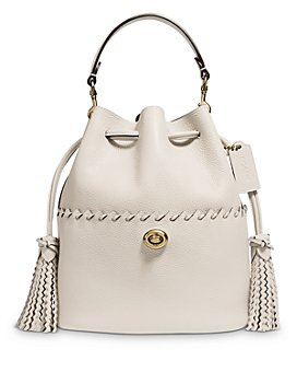 COACH - Lora Mini Whipstitch Leather Bucket Bag