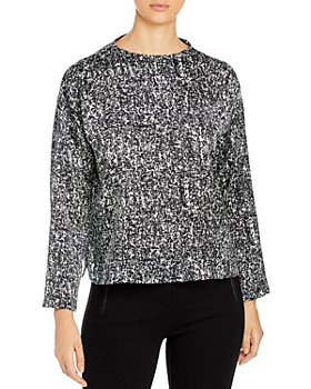 Eileen Fisher Petites - Funnel Neck Box Top