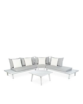SAFAVIEH - Lansen 4-Piece Corner Indoor/Outdoor Living Set