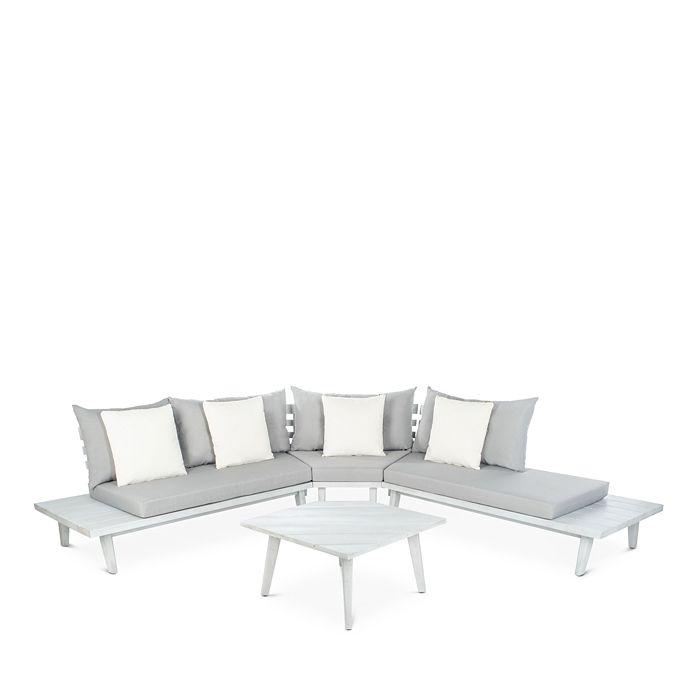 SAFAVIEH - Lansen 4-Piece Corner Indoor/Outdoor Living Set