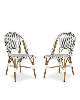 SAFAVIEH - Salcha Indoor-Outdoor French Bistro Side Chair, Set of Two