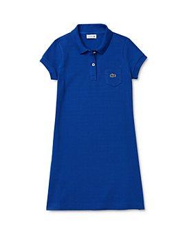Lacoste - Girls' Short-Sleeve Petit Piqué Polo Dress - Little Kid, Big Kid