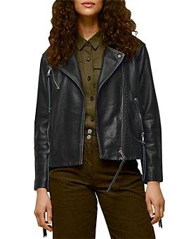 Whistles - Tessa Tumbled Leather Moto Jacket