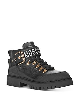 Moschino - Women's Buckled Lug Platform Booties