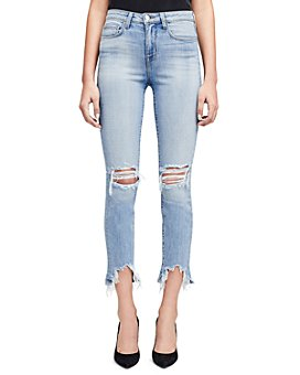 L'AGENCE - Ripped Jeans in Classic Vintage Destruct