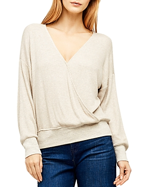 L'Agence Amber Ribbed Crossover Top