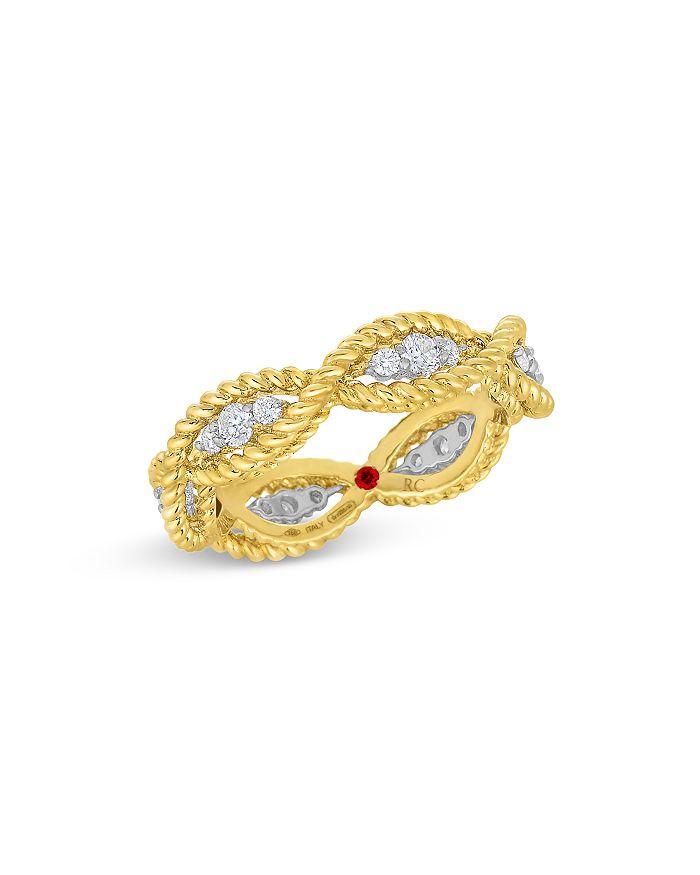 Roberto Coin - 18K Yellow & White Gold New Barocco Diamond Braided Statement Ring