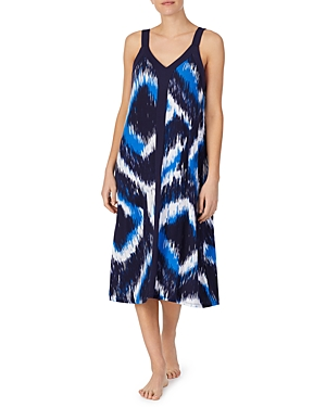 Printed Long Chemise Nightgown