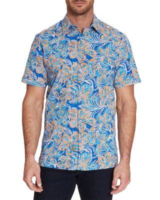 Robert Graham Mens Miles Long Sleeve Slim Fit Shirt