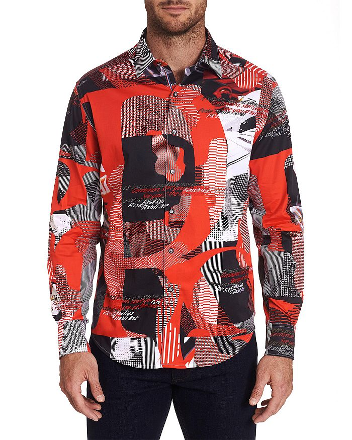 Robert Graham - Start Your Engine Cotton Stretch Printed Classic Fit Button-Up Shirt