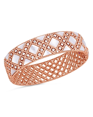 Roberto Coin 18K Rose Gold Palazzo Mother-of-Pearl & Diamond Bangle Bracelet-Jewelry & Accessories