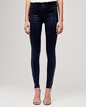 L'AGENCE - Marguerite Coated Skinny Jeans
