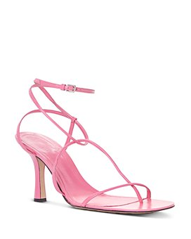 Bottega Veneta - Women's Square Toe Strappy High Heel Sandals