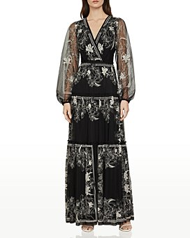 BCBGMAXAZRIA - Lily Floral-Embroidered Maxi Dress