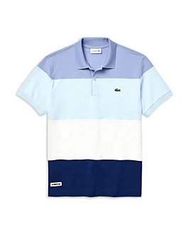 Lacoste - Ice Cotton Piqué Color-Blocked Stripe Classic Fit Polo Shirt