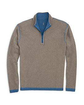 Johnnie-O - Alister Cotton-Blend Reversible Mélange Classic Fit 1/4-Zip Sweater