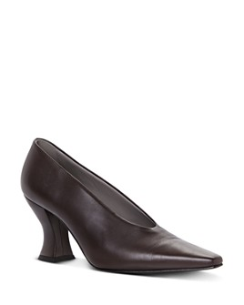 Bottega Veneta - Women's Pointed Square Toe Pumps