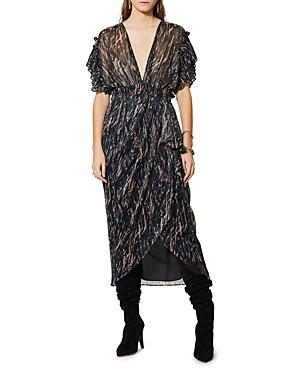 Iro Gargas Printed Metallic Dress-Women