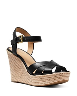 MICHAEL Michael Kors - Women's Suzette Jute Wedge Heel Sandals