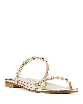 Stuart Weitzman - Women's Ameliese Synthetic Pearl Slide Sandals
