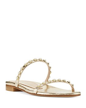 Stuart Weitzman - Women's Ameliese Synthetic Pearl Slide Sandals