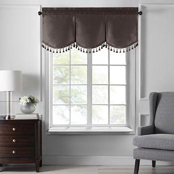 "Elrene Home Fashions - Colette Tassel Scallop Window Valance, 48"" x 21"""