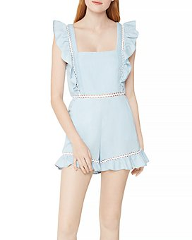 BCBGeneration - Square Neck Ruffle Romper