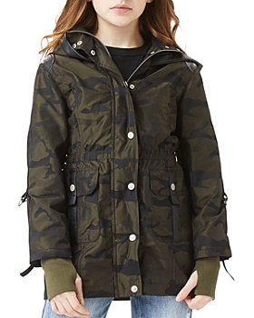 Habitual Kids - Girls' Delilah Camo Print Hooded Jacket - Big Kid