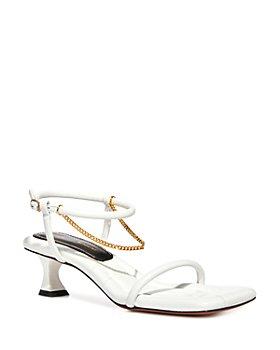 Proenza Schouler - Women's Chain Detail Mid Heel Sandals