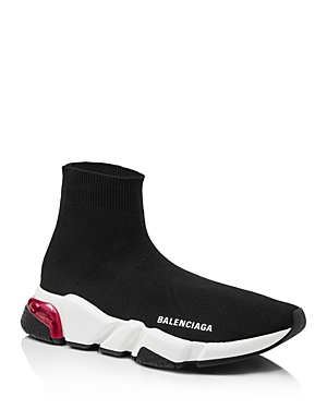 Balenciaga Women's Speed Light Clear Sock Sneakers