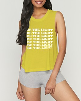 Spiritual Gangster - Be The Light Cropped Tank Top