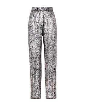 CHRISTOPHER KANE - Snake Print Faux Leather Pants