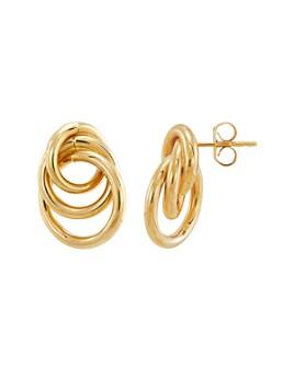 Bloomingdale's - Interlocking Circle Stud Earrings in 14K Yellow Gold - 100% Exclusive