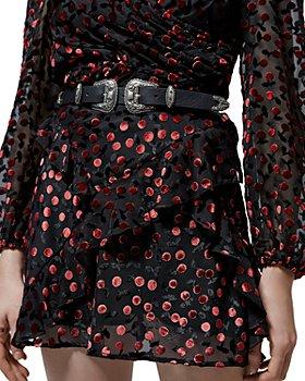 The Kooples - Cerise Devore Ruffled Mini Skirt
