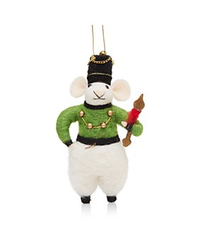 Bloomingdale's - Felt Mouse Green Ornament - 100% Exclusive