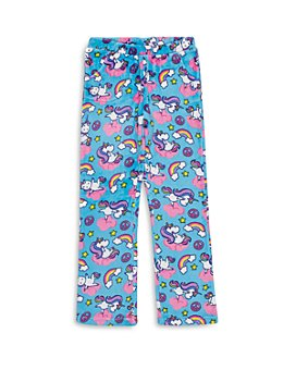 Candy Pink - Girls' Yogacorn Fleece Pajama Pants - Big Kid