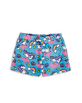 Candy Pink - Girls' Yogacorn Fleece Pajama Shorts - Big Kid